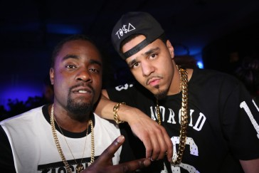 LOS ANGELES, CA - JUNE 30:  (L-R) Wale and J. Cole attend BET Post Party at SupperClub Los Angeles on June 30, 2013 in Los Angeles, California.  (Photo by Johnny Nunez/WireImage)